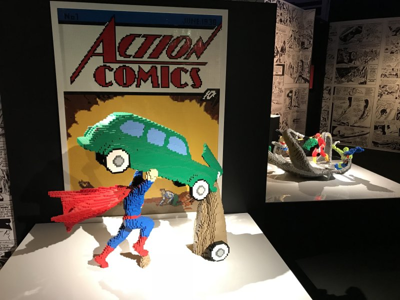 Vue de l'exposition The Art of the Brick, les super-héros DC en Lego - La Villette (8)