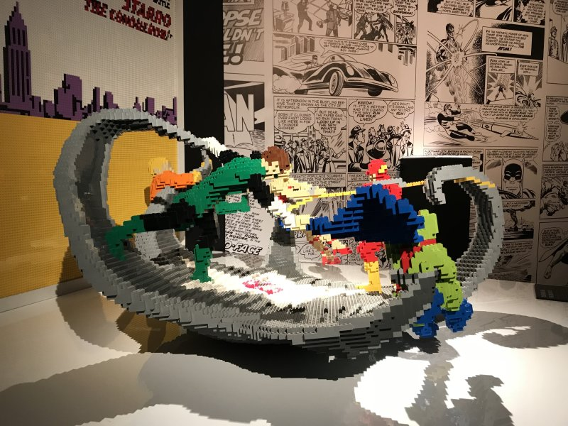 Vue de l'exposition The Art of the Brick, les super-héros DC en Lego - La Villette (9)