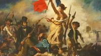 Liberty Leading the People, 28 July 1830, c.1830-31 (oil on canvas) (for detail see 95120) - Delacroix, Ferdinand Victor Eugene (1798-1863) - Louvre-Lens, France