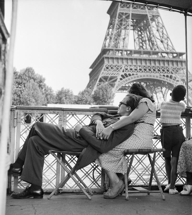 WILLY RONIS, Le bateau-mouche, Paris, 1949