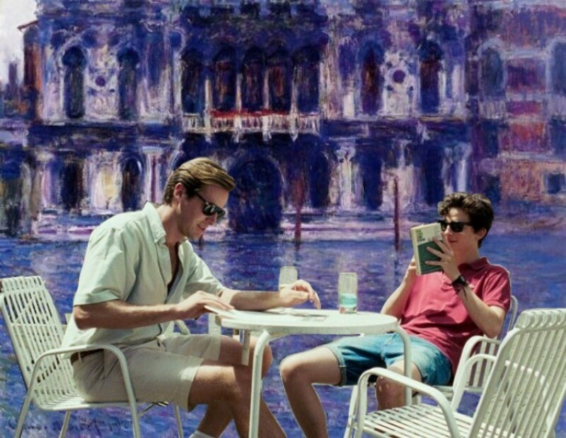 01. What does one do around here - In Palazzo Contarini by Claude Monet, 1908.