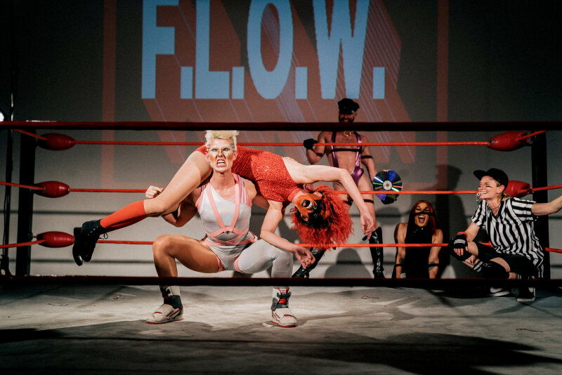 """Flow, Future Ladies of Wrestling """"Match of The Multiverse"""", Human Resources, Los Angeles, 2018"""