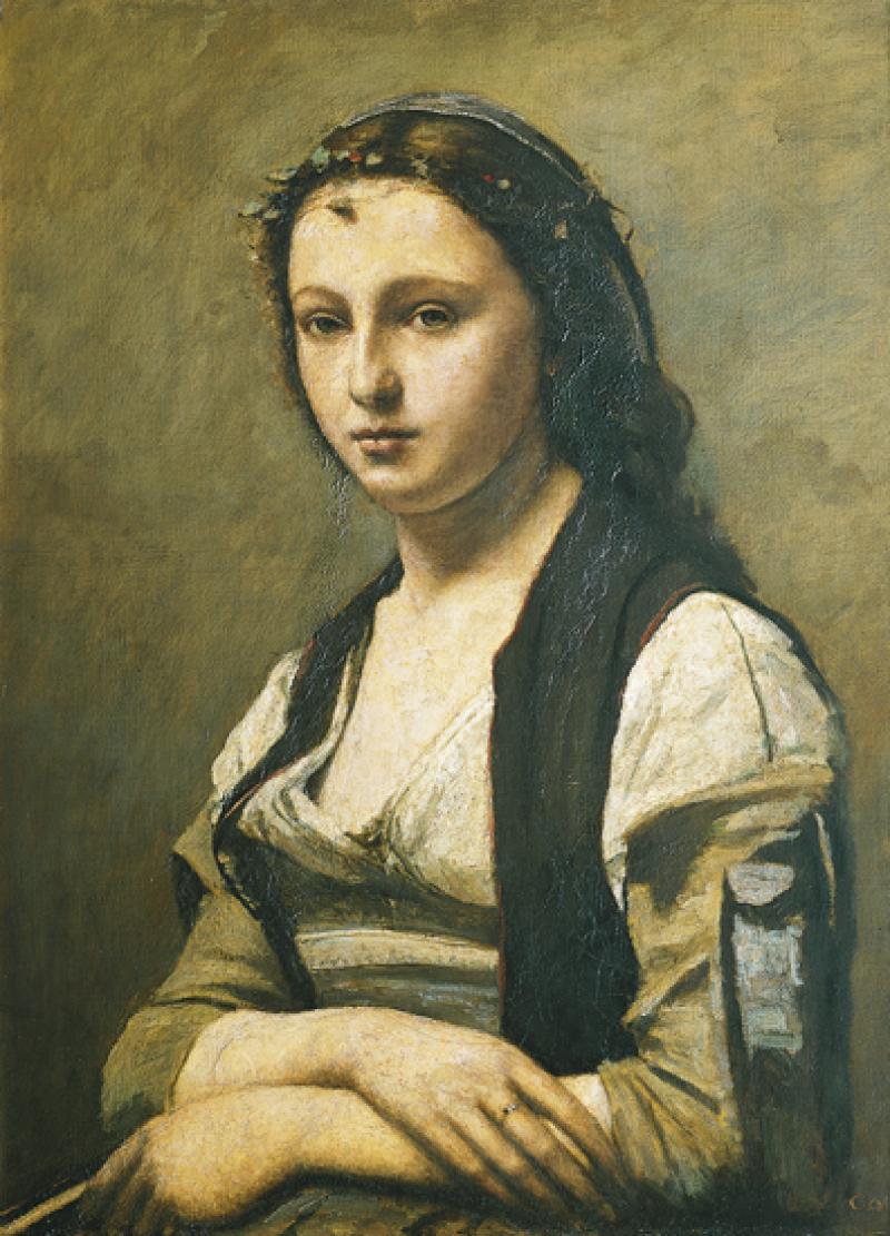 Jean-Baptiste Camille Corot, La femme à la perle