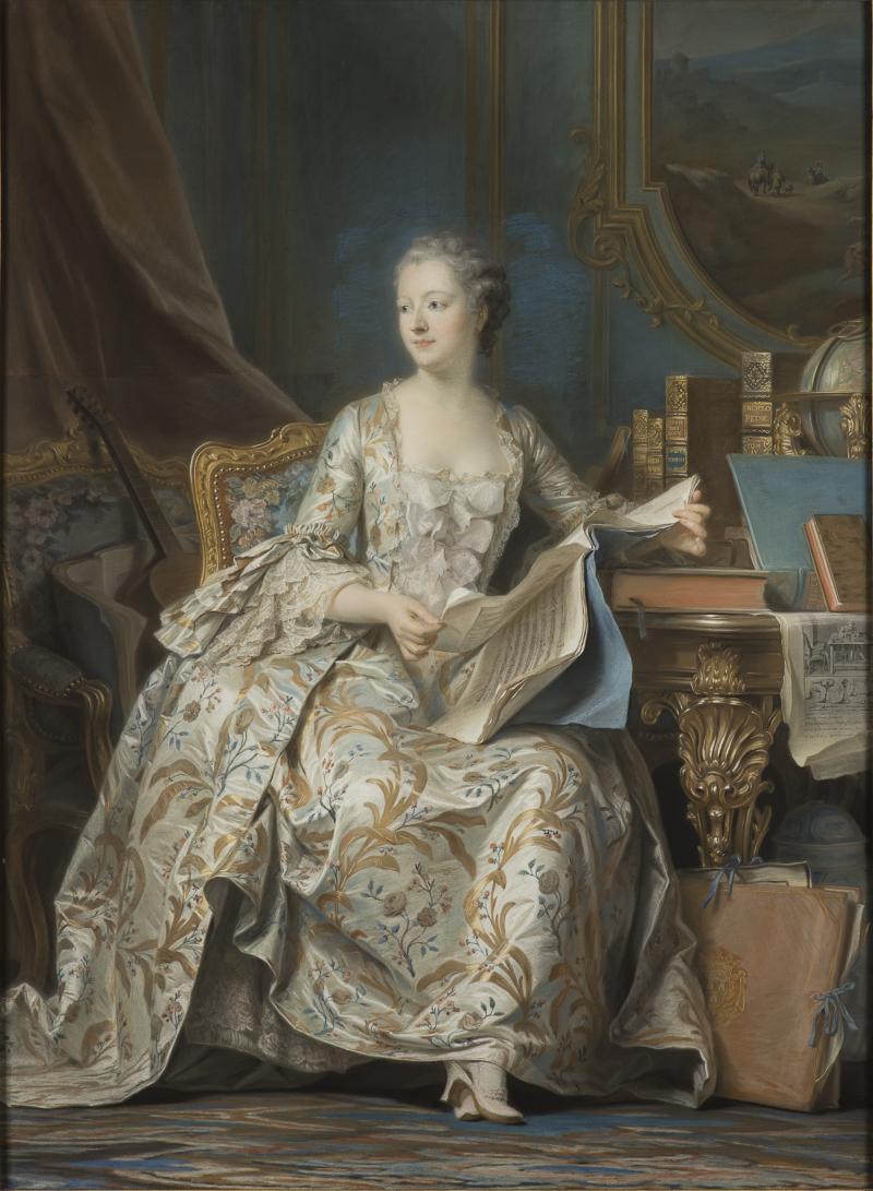 La Marquise de Pompadour, Maurice Quentin La Tour