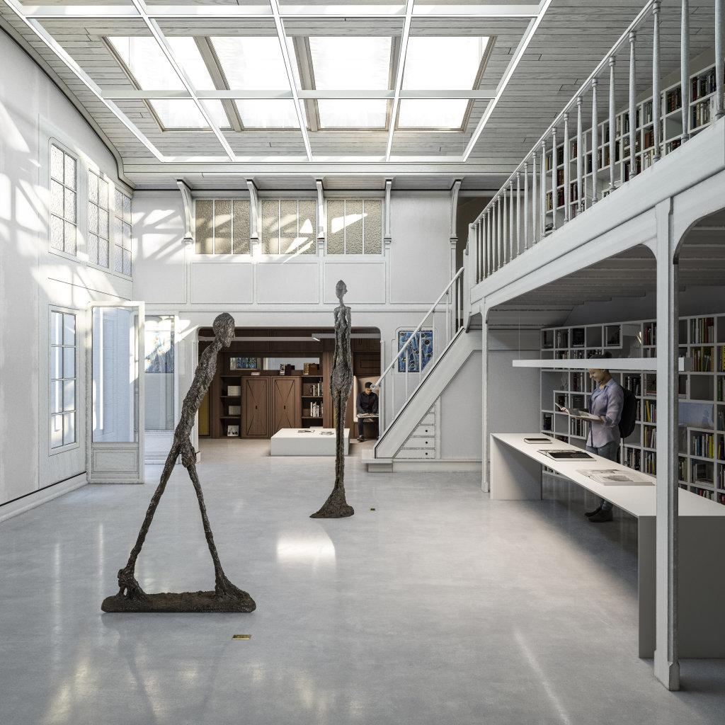Intérieur de l'Institut Giacometti