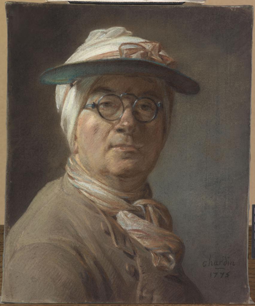 Autoportrait à l'abat-jour et aux lunettes, Jean Baptiste Siméon Chardin