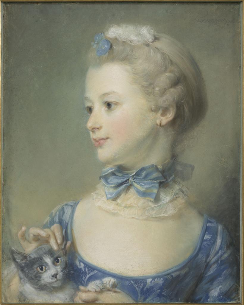 Portrait de Mlle Huquier, Jean-Baptiste Perronneau