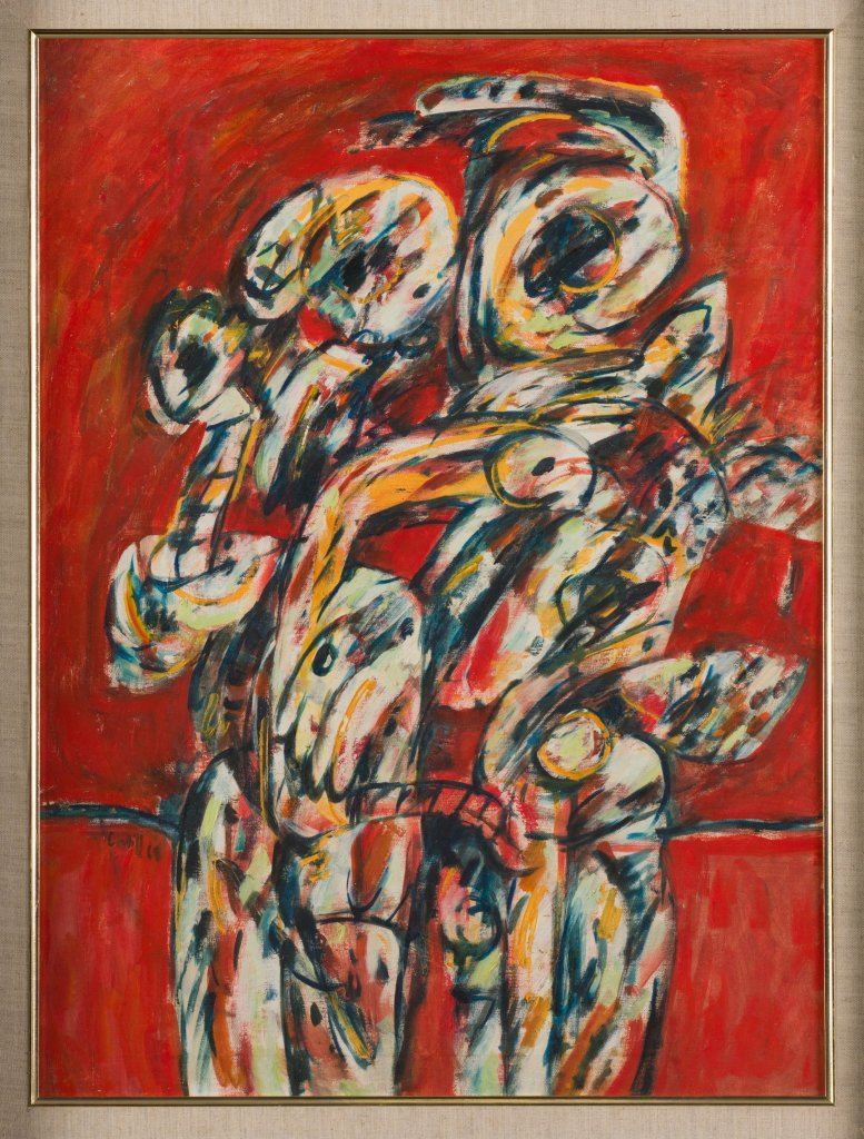 Latiff Mohidin, Two Standing Figures, 1968 Collection of National Gallery Singapore