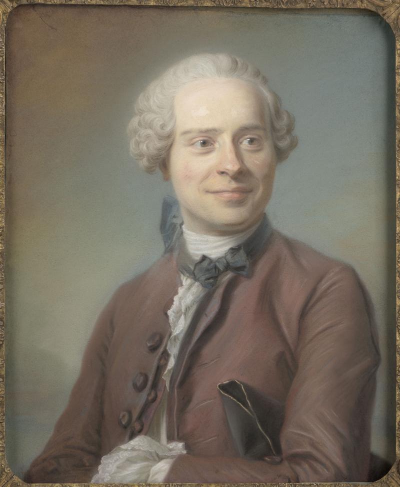 La Tour Maurice Quentin de (1704-1788). Paris, musée du Louvre, D.A.G.. RF3893-recto.