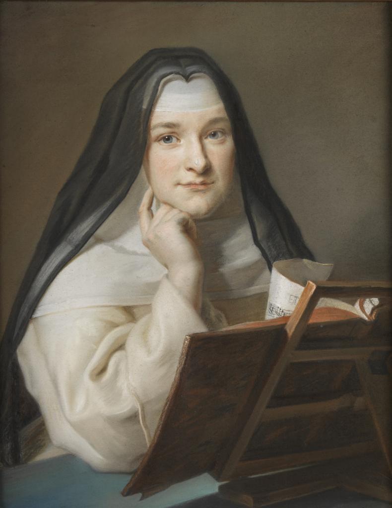 Portrait de religieuse attribué à Maurice Quentin La Tour