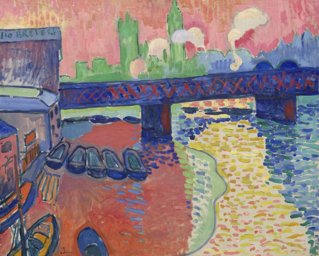 André Derain, Charing Cross Bridge, Londres, 1906. Washington, National Gallery of Art. Photo Courtesy the National Gallery of Art, Washington. John Hay Whitney Collection André Derain © Adagp, Paris 2018