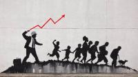 Banksy, Homme d'affaires, angle Coney island av et 1st av © Banksy