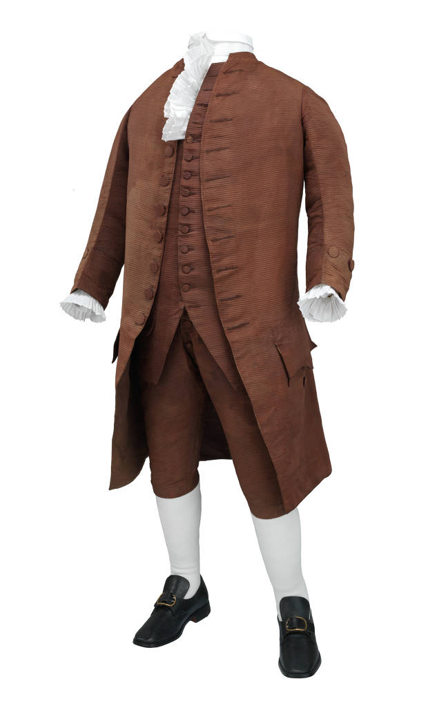 Suit, three-piece, worn by Benjamin Franklin in 1778
