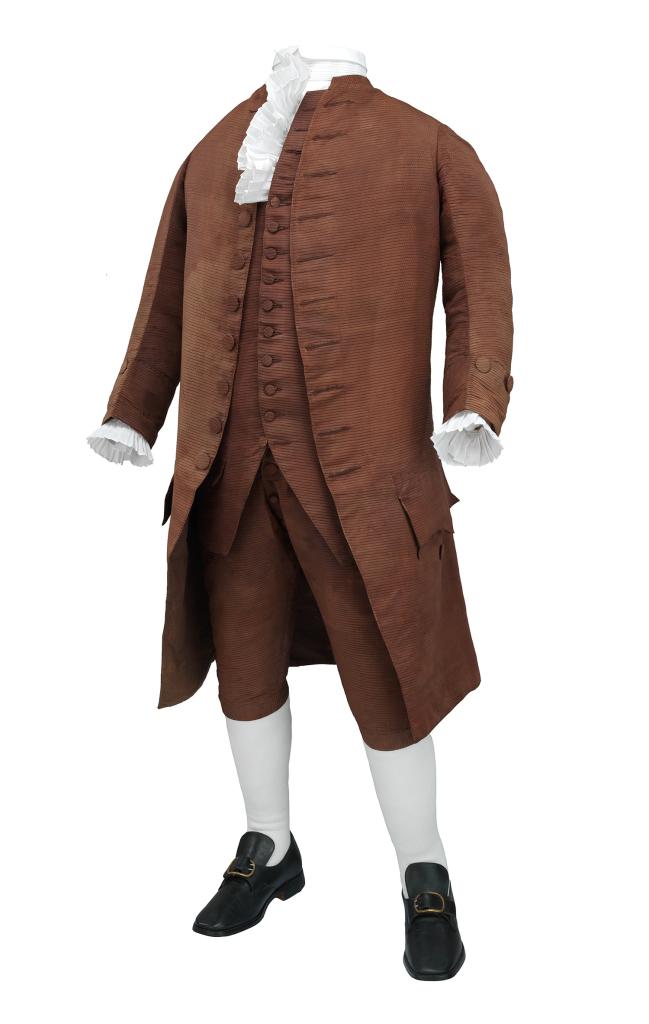 Suit, three-piece, worn by Benjamin Franklin in 1778