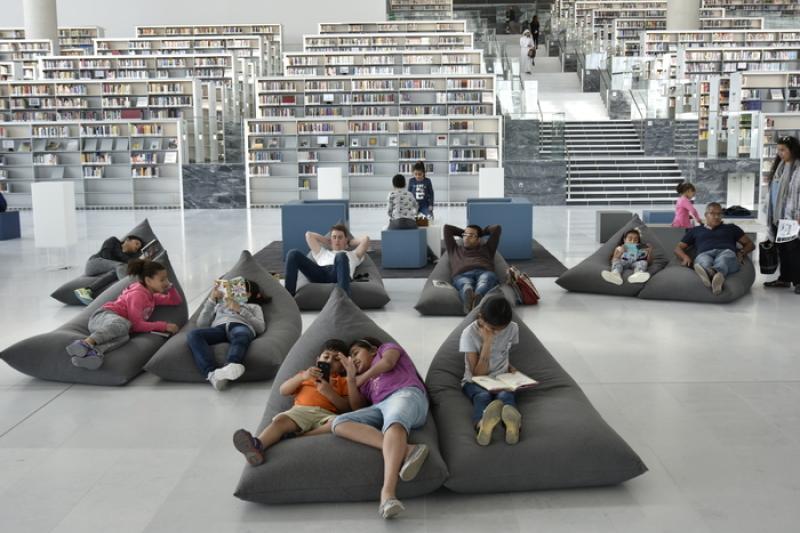 Vue de l'intérieur de la Bibliothèque nationale de Doha