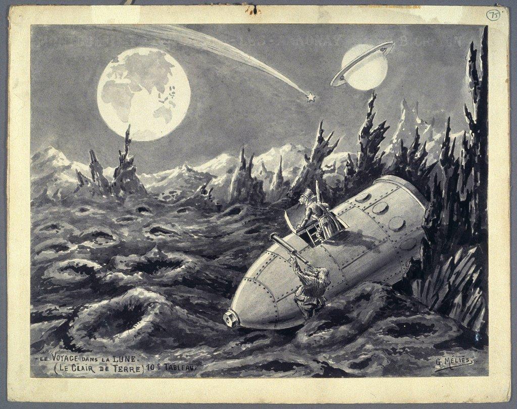 George Méliès, Le voyage dans la lune - Le clair de terre - (10ème tableau), 1930