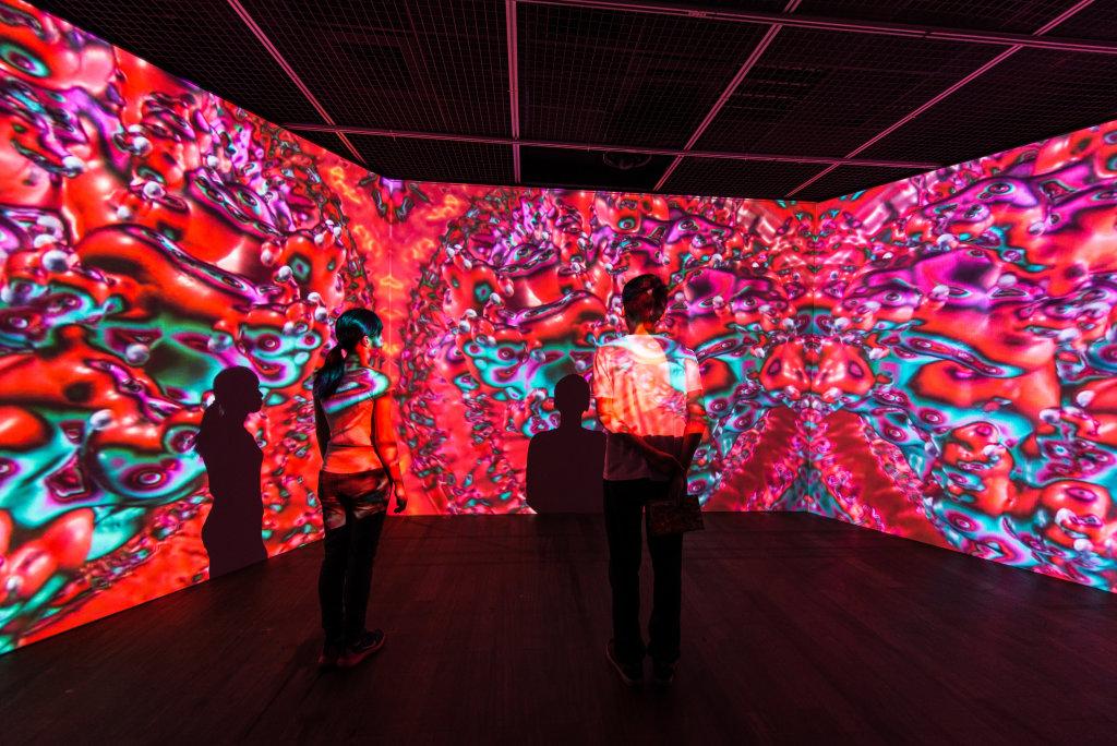 Vue de l'exposition Yoichiro Kawaguchi au Centre des arts d'Enghien-les-bains