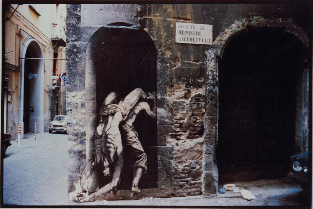 Ernest Pignon Ernest, Naples, 1988-1990