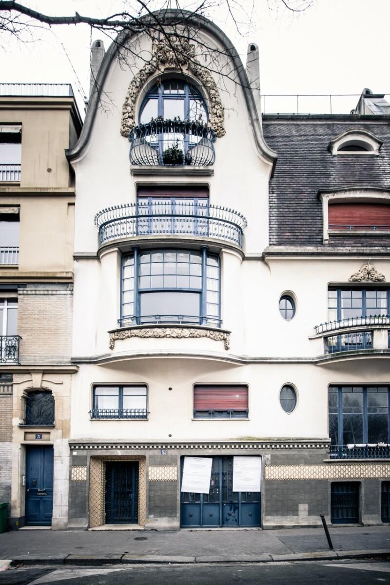 Façade de l'Institut Giacometti, 5 rue Victor Schœlcher, 2018