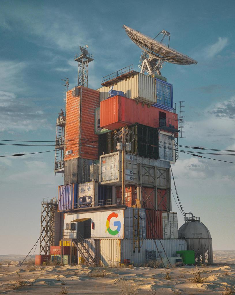 Mike Winkelmann, Google Data Center 2079, Fallen Giants