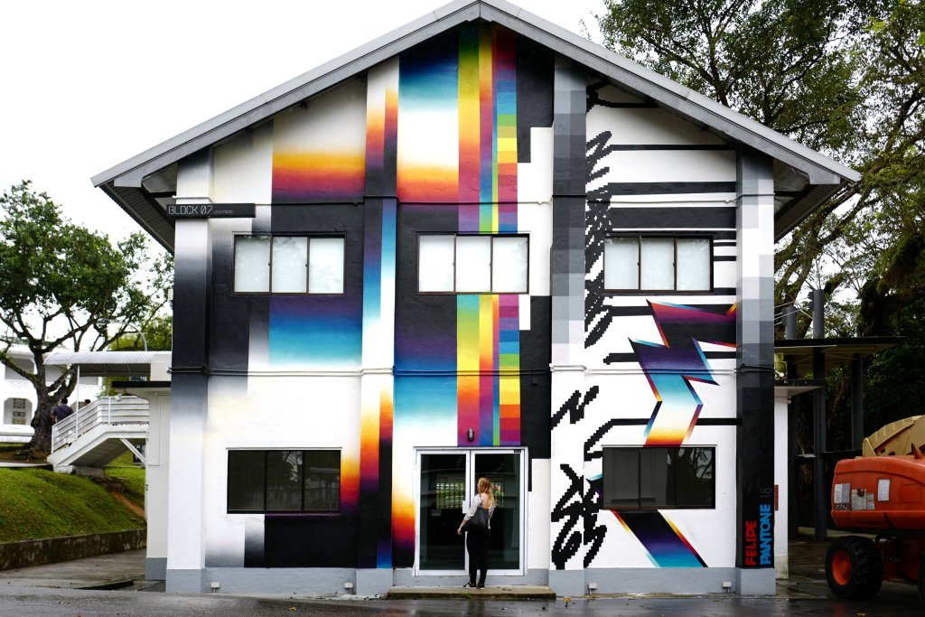 FelipePantone, Wall in Singapore - courtesy Danysz gallery