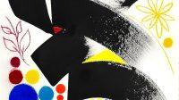 FLEUR ASTER3-2016-2017-76x56-papier arche-encre japonaise-pigments naturels-pastels secs