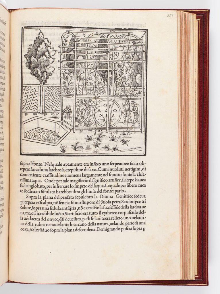 Francesco Colonna, Hypnerotomachia Poliphili [Le songe de Poliphile], Venise 1499, Fondation Martin Bodmer 2