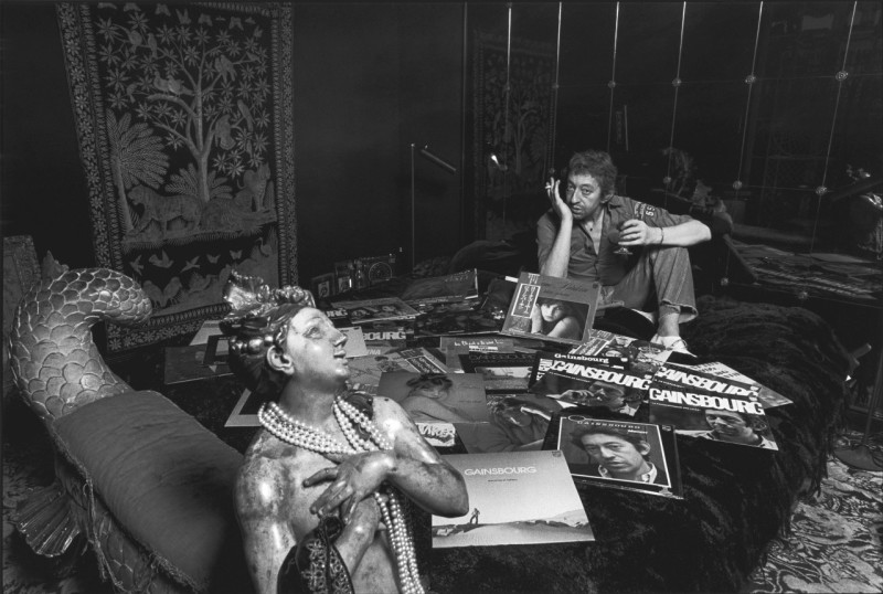Serge Gainsbourg chez lui le 5 Decembre 1979.