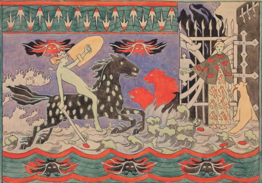 Gerhard Munthe, The Horse of Hades, 1892