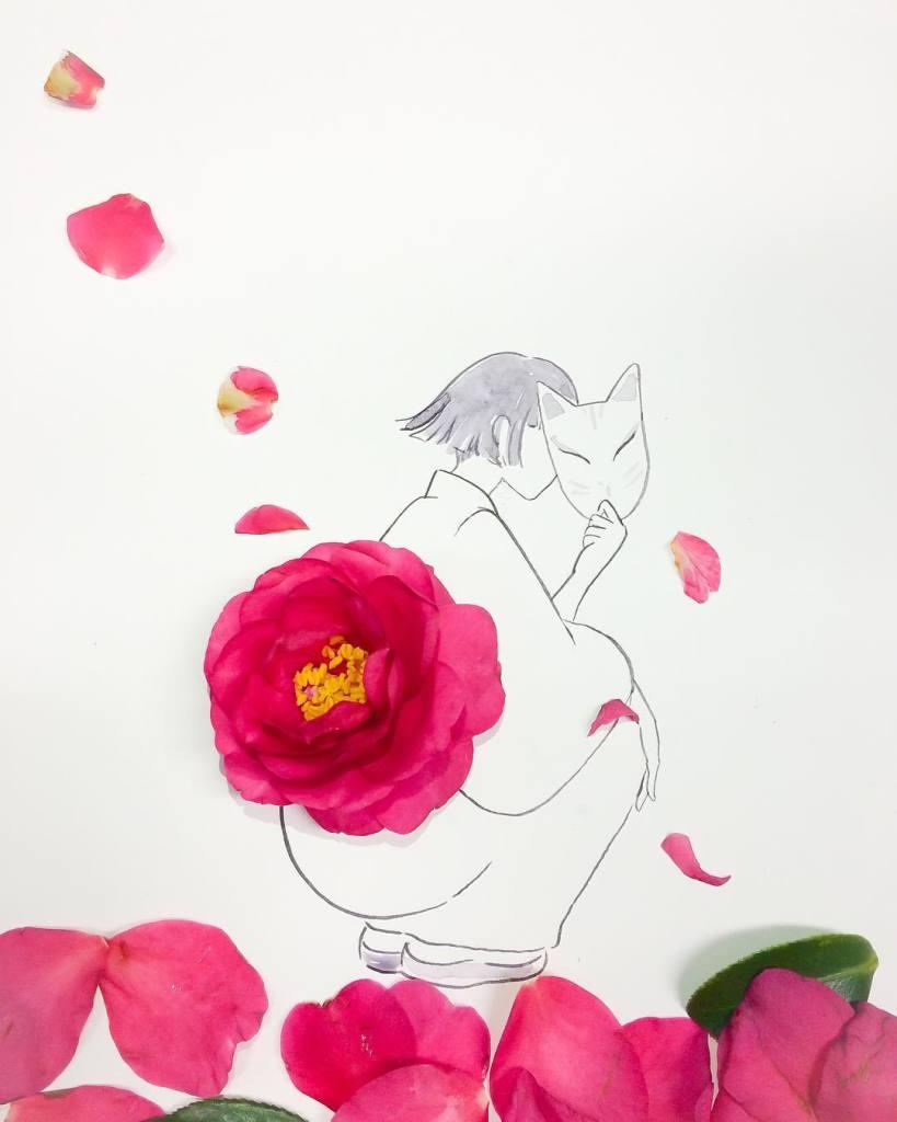 Hanakotoba kimono