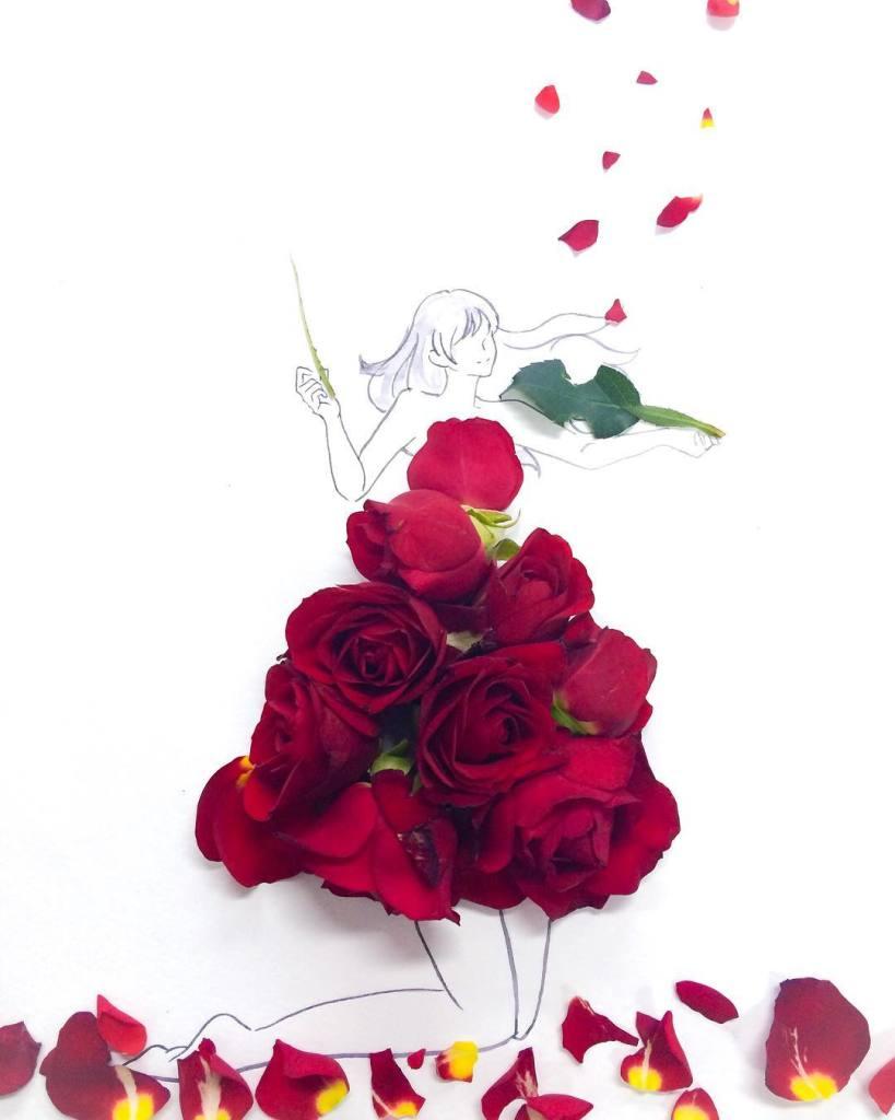 Hanakotoba red
