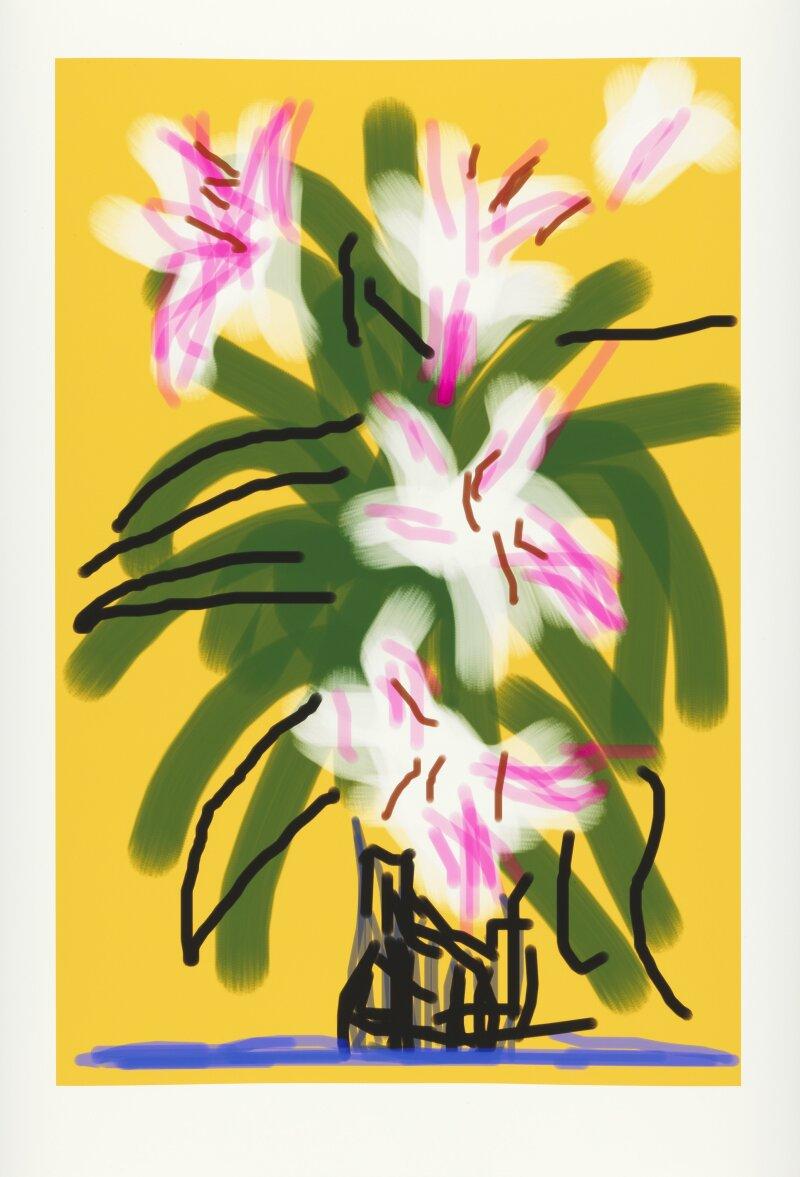 David Hockney, Flowers, 2010, Dessin sur iPad