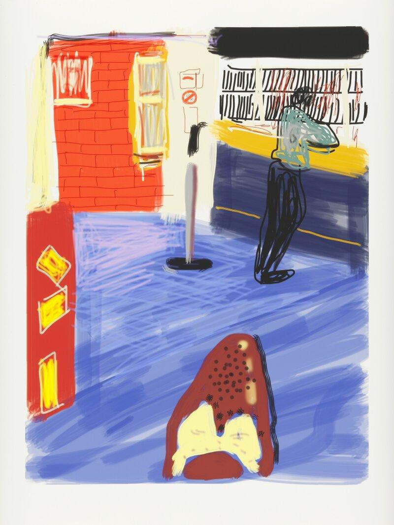 David Hockney, 2010, Dessin sur iPad