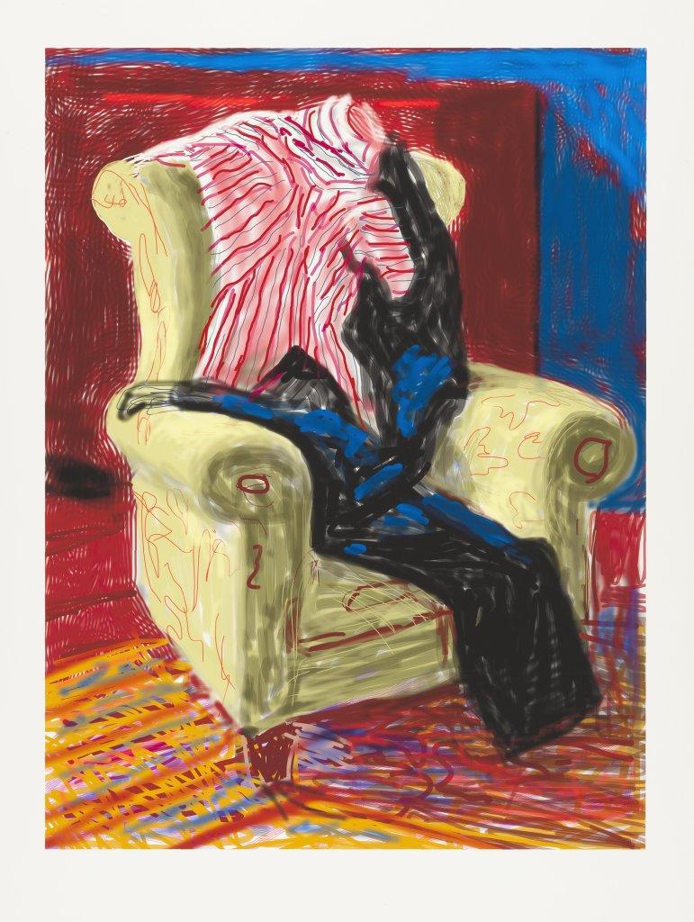 David Hockney, My Shirt and trousers, 2010, Dessin sur iPad