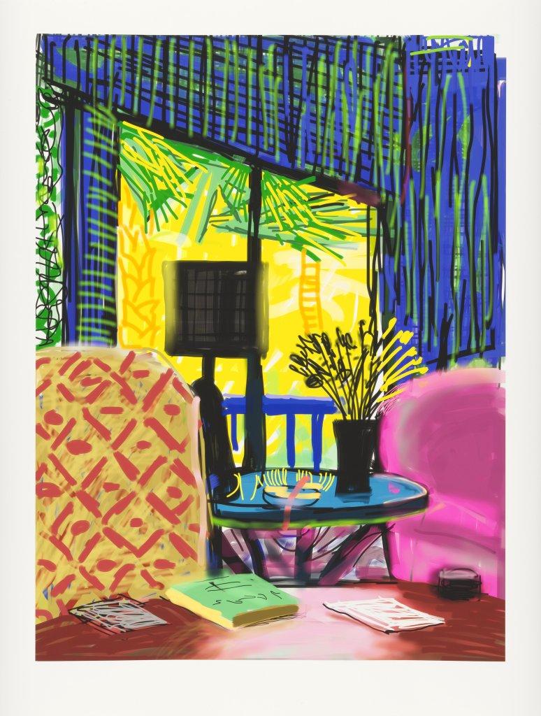 David Hockney, Montcalm interior, 2010, Dessin sur iPad