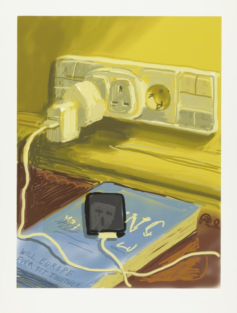 David Hockney, Phone, 2010, Dessin sur iPad