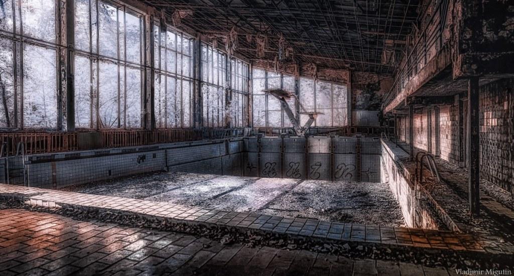 La piscine de Pripyat, Chernobyl Exclusion Zone