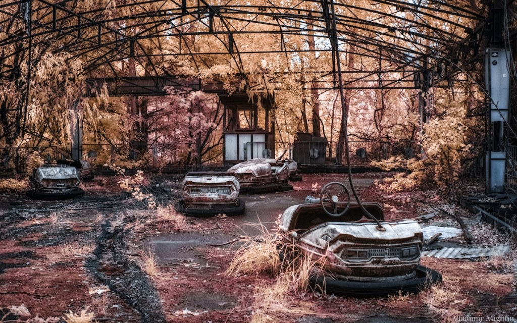 Des anciennes auto-tamponneuses, Chernobyl Exclusion Zone