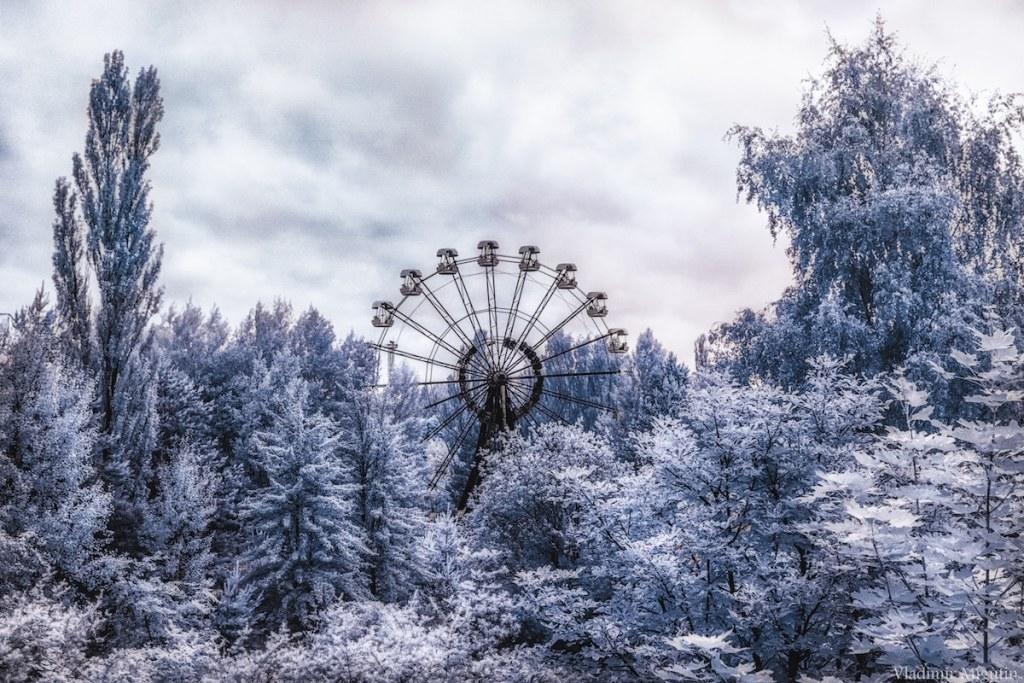 L'iconique grande roue du parc d'amusement de Pripyat, Chernobyl Exclusion Zone