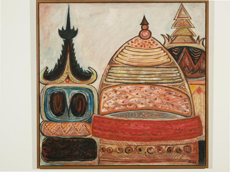 Latiff Mohidin, Pagoda II, 1964, collection de la National Galery de Singapour