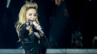 LONDON, ENGLAND - JULY 17: Madonna performs live during the MDNA tour at Hyde Park on July 17, 2012 in London, England.  (Photo by Ian Gavan/Getty Images)