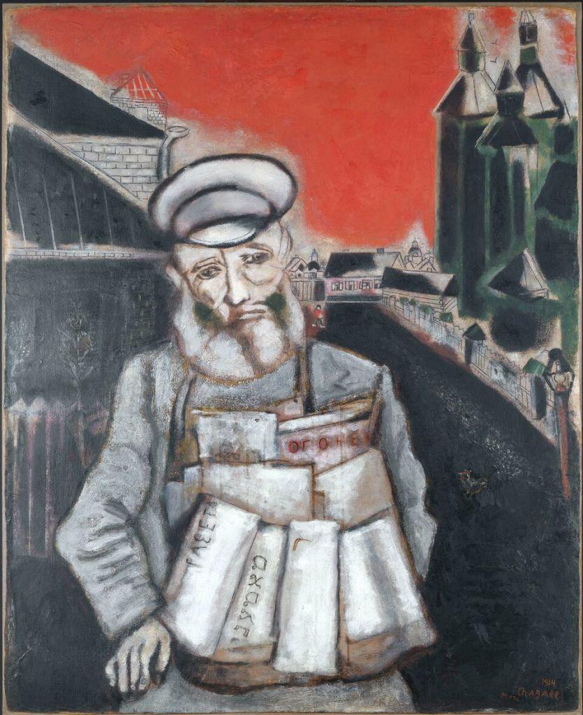 Marc Chagall, Le marchand de journaux,1914