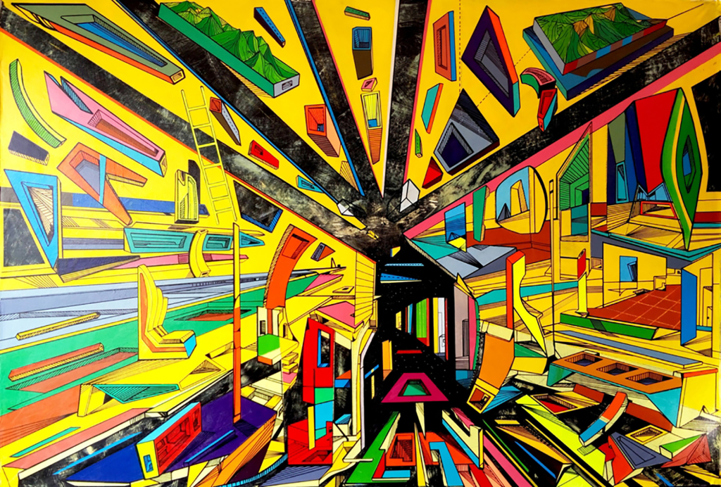 Marko Gavrilovic, Throught the passage acrylic on canvas, 107x157cm, 2017