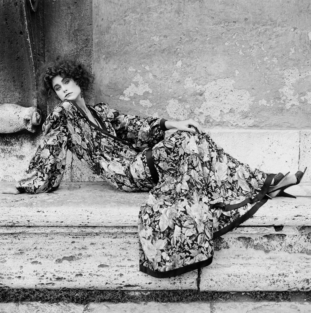 Willy Rizzo, Mode Palais Farnèse Rome, 1981 pour VOGUE ITALIE