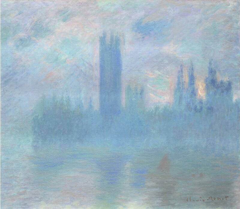 Claude Monet, Le Parlement de Londres, 1900-1901. Art Institute of Chicago. Photo