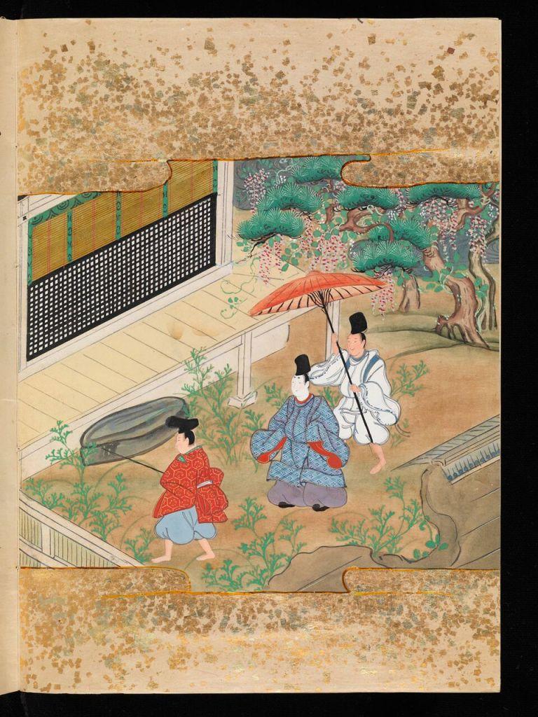 Murasaki Shikibu, Genji monogatari Le Dit du Genji, début XIe siècle, artiste de l'école Tosa,Fondation Martin Bodmer, CB 604