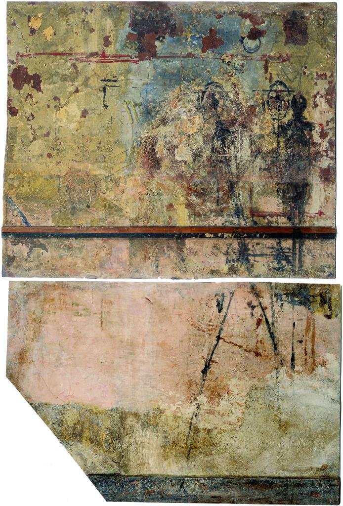 Murs de l'atelier d'Alberto Giacometti