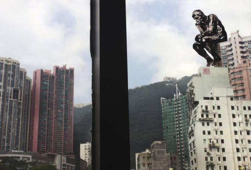 Pejac, The Re-thinker, Hong-Kong, 2015