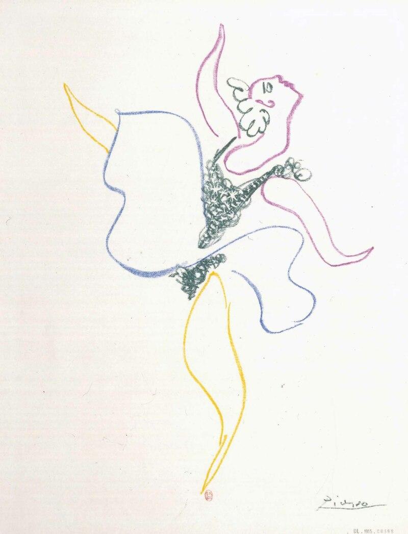 Pablo Picasso, Danseuse, mars 1954