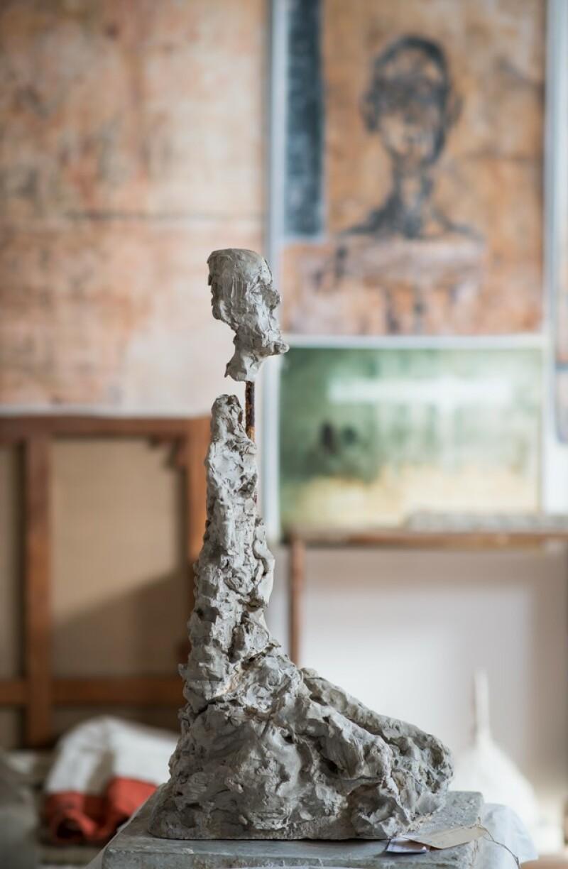 Reconstitution de l'atelier - Buste d'homme assis (Lotar III), 1965-1966